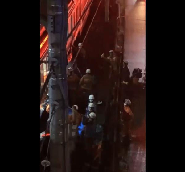 高崎線の宮原駅で飛び込み自殺の人身事故が起きた動画のキャプチャ画像