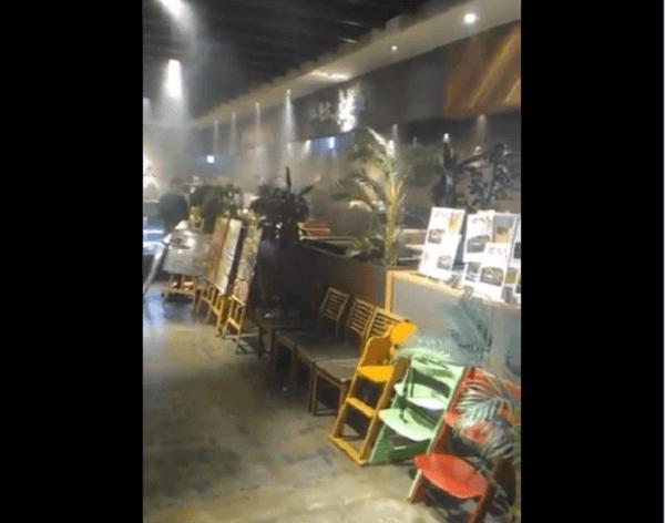 ヨドバシカメラ博多の焼肉屋で火事が起きた画像