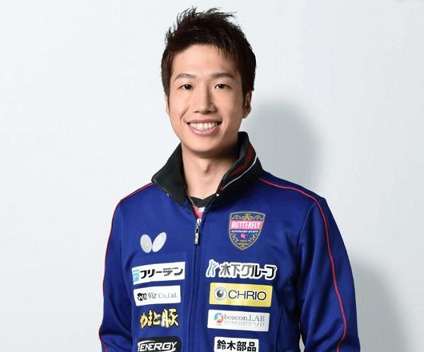 水谷隼選手の顔写真の画像