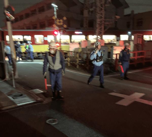 京阪本線の中書島駅~伏見桃山駅の踏切で人身事故が起きた現場の画像