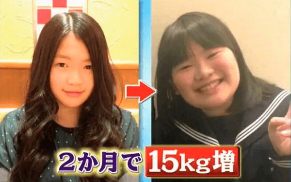 富田望生さんの痩せていころの比較画像
