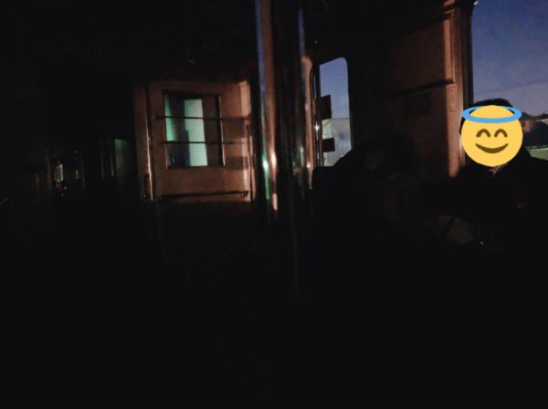 東武東上線の東武練馬駅~下赤塚駅間で人身事故が起きた電車内の画像