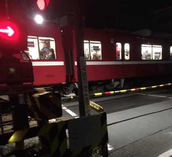京急大師線の川崎大師~東門前駅間で人身事故が起きた現場の画像