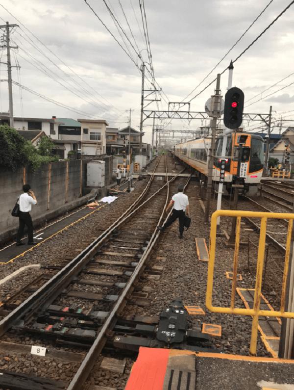 伊勢若松駅の人身事故で遺体らしきものがある画像