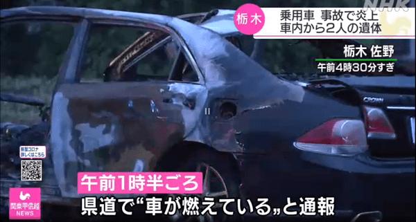 佐野市岩崎町の県道で死亡事故のニュースのキャプチャ画像