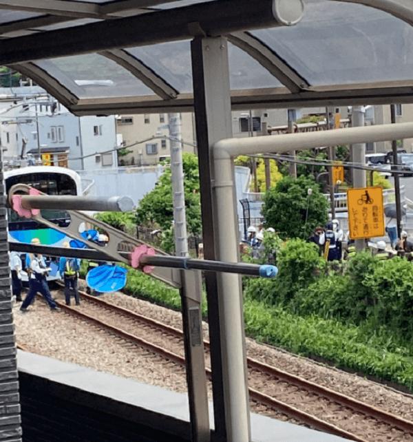 西武池袋線の小手指駅~狭山ケ丘駅の人身事故現場の画像